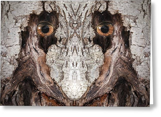 Anthropomorphic Digital Greeting Cards - Woody 63 Greeting Card by Rick Mosher