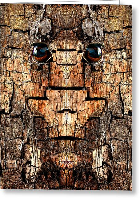 Anthropomorphic Digital Greeting Cards - Woody 65 Greeting Card by Rick Mosher