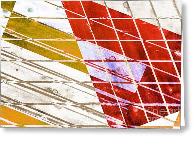 Lounge Digital Art Greeting Cards - Woody Abstract Red Orange Neutral Greeting Card by Natalie Kinnear