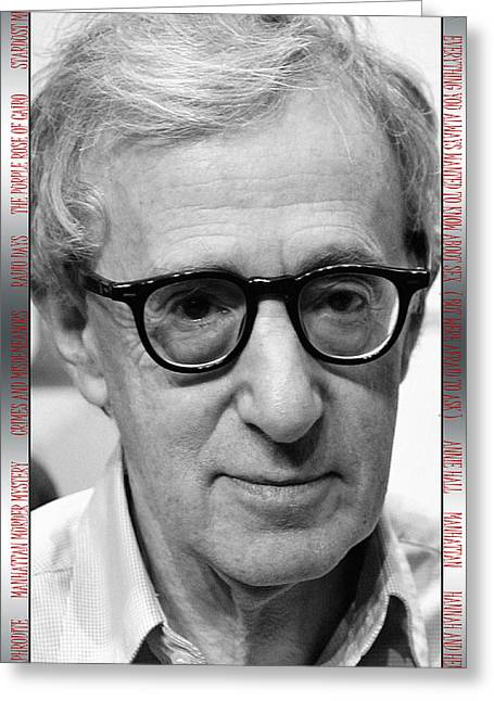 Woody Allen Greeting Cards - Woody Allen 1 Greeting Card by Andrew Fare