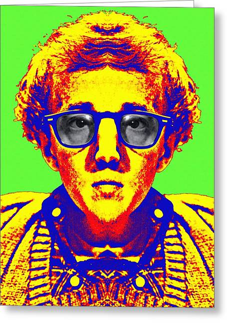 Woody Allen Greeting Cards - Woody Allen alias Greeting Card by Art Cinema Gallery