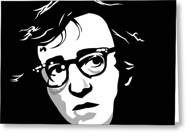 Woody Allen Greeting Cards - Woody Allen Greeting Card by Cool Canvas