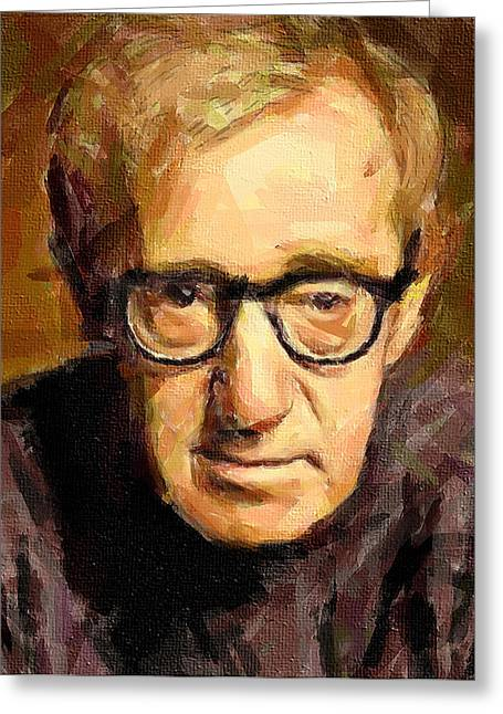 Woody Allen Greeting Cards - Woody Allen Greeting Card by Yury Malkov