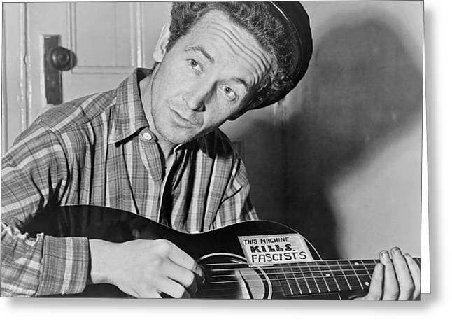 Famous Person Greeting Cards - Woody Guthrie Greeting Card by Mountain Dreams