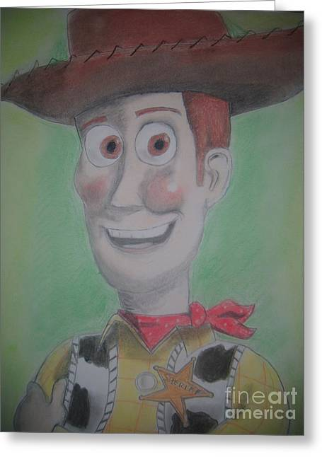 Toys Pastels Greeting Cards - Woody Greeting Card by Paul Trewartha