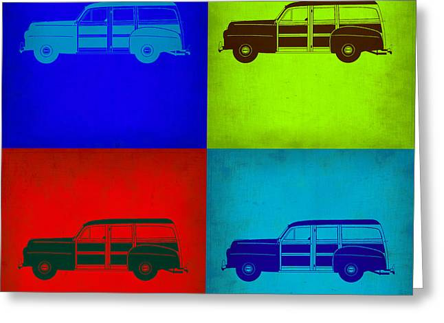 Woodies Greeting Cards - Woody Wagon Pop Art 1 Greeting Card by Naxart Studio
