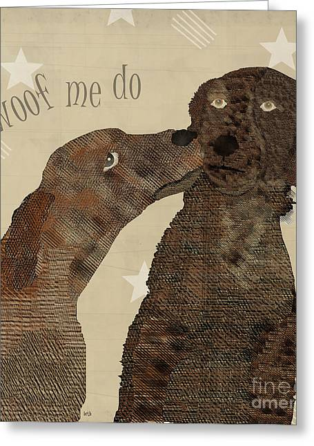 Spaniel Digital Art Greeting Cards - Woof Me Do  Greeting Card by Bri Buckley