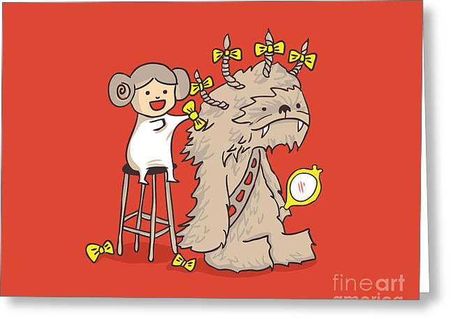 Him Greeting Cards - Wookie Is A Wonderful Friend Greeting Card by Budi Satria Kwan