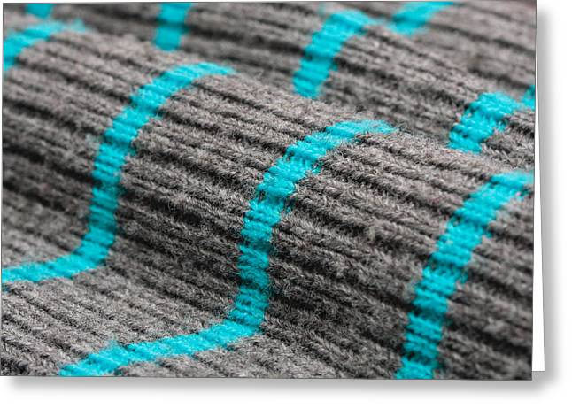 Knitwear Greeting Cards - Wool material Greeting Card by Tom Gowanlock