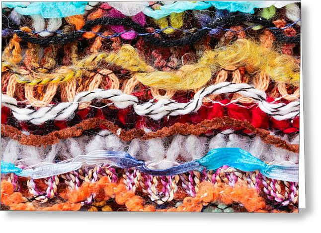 Garment Greeting Cards - Wool threads Greeting Card by Tom Gowanlock