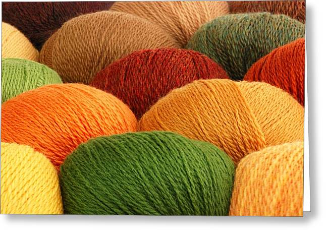 Earth Tone Photographs Greeting Cards - Wool Yarn Greeting Card by Jim Hughes
