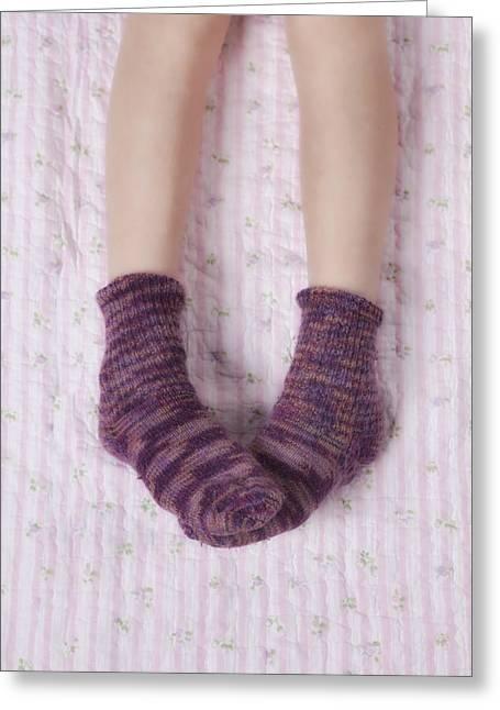Woollen Greeting Cards - Woollen Socks Greeting Card by Joana Kruse