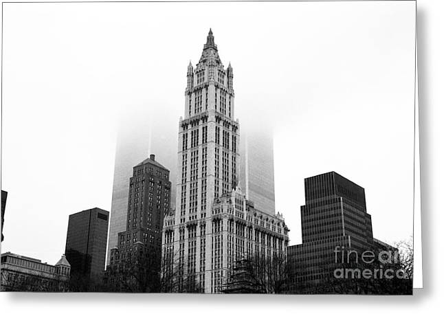 Woolworth Greeting Cards - Woolworth Building 1990s Greeting Card by John Rizzuto