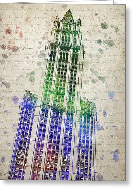 Woolworth Building Greeting Card by Aged Pixel