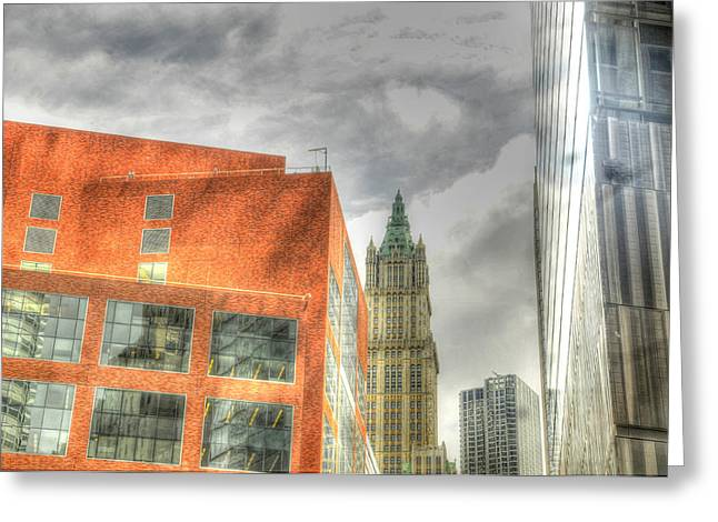 Woolworth Greeting Cards - woolworth Building Greeting Card by Mike Lindwasser Photography