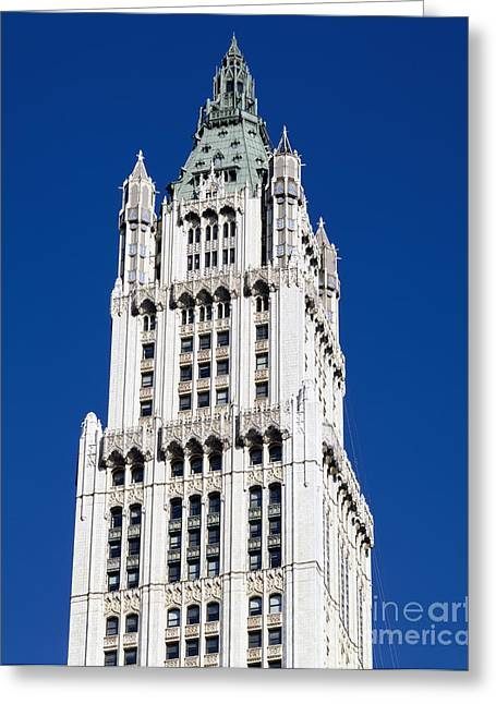 Woolworth Greeting Cards - Woolworth Building Greeting Card by Rafael Macia
