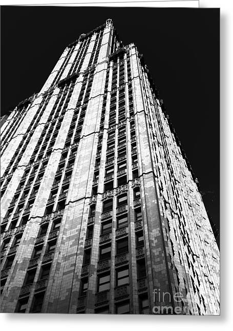 Woolworth Greeting Cards - Woolworth Rising mono Greeting Card by John Rizzuto