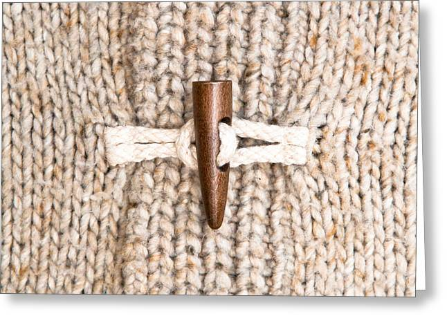 Jumper Greeting Cards - Wooly jumper toggle Greeting Card by Tom Gowanlock