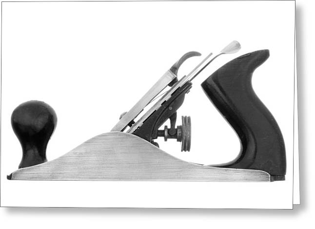 Blade Greeting Cards - Wooodworkers Block Plane Greeting Card by Jim Hughes