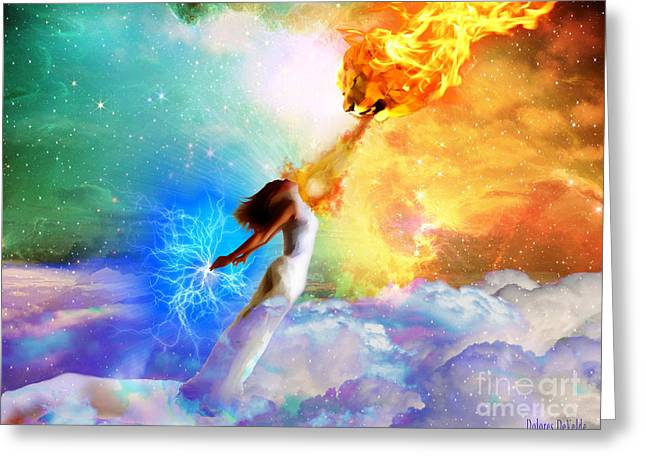 Judah Greeting Cards - Words like fire Greeting Card by Dolores Develde