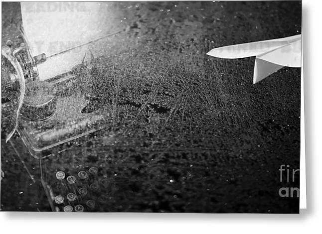 Words Photographs Greeting Cards - Words Take Flight Greeting Card by Edward Fielding