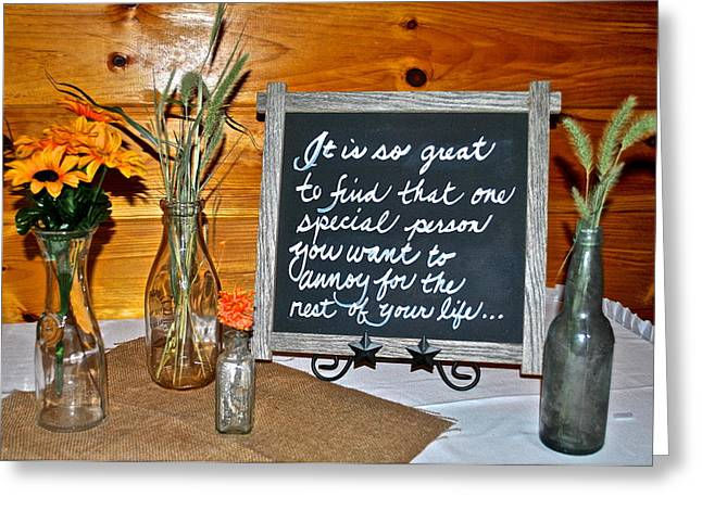 Quality Greeting Cards - Words to Live By Greeting Card by Frozen in Time Fine Art Photography