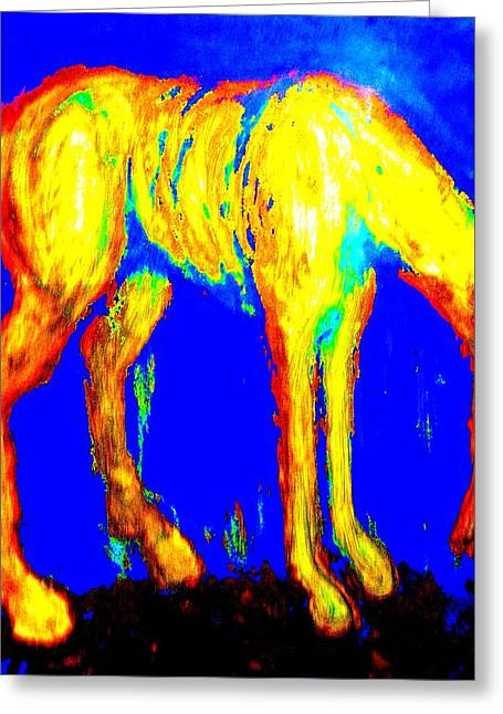 Portray Greeting Cards - Work As A Horse Greeting Card by Hilde Widerberg