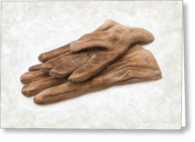 Work Gloves Greeting Card by Danny Smythe