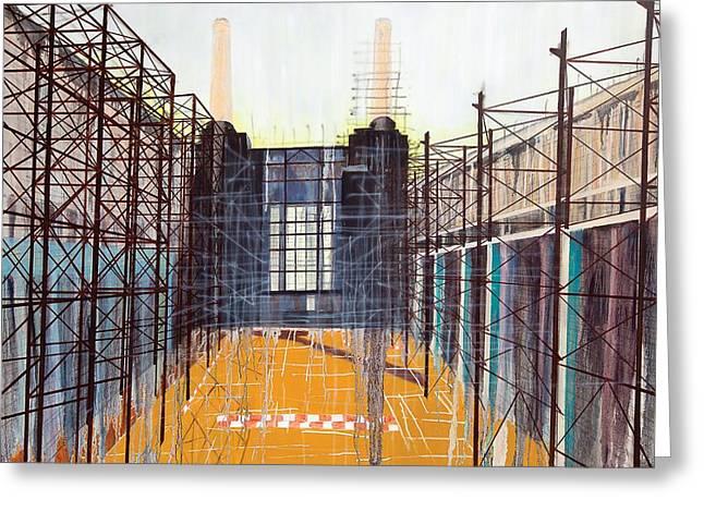 Structural Greeting Cards - Work in Progress II Greeting Card by Luke M Walker