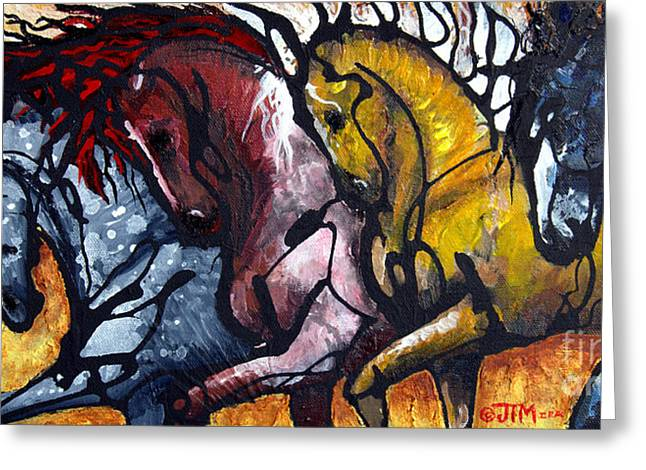 Paso Fino Horse Greeting Cards - Work Together Greeting Card by Jonelle T McCoy