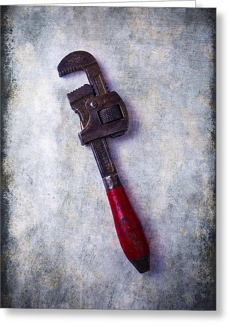 Industrial Concept Greeting Cards - Work Wrench Greeting Card by Garry Gay