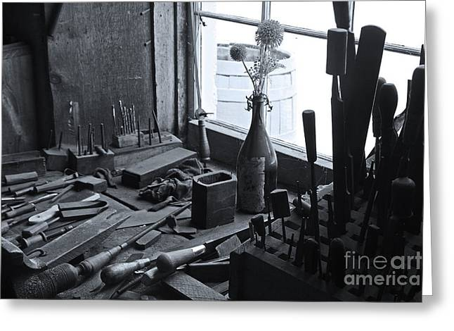 Cooperstown Greeting Cards - Workbench Greeting Card by David Rucker