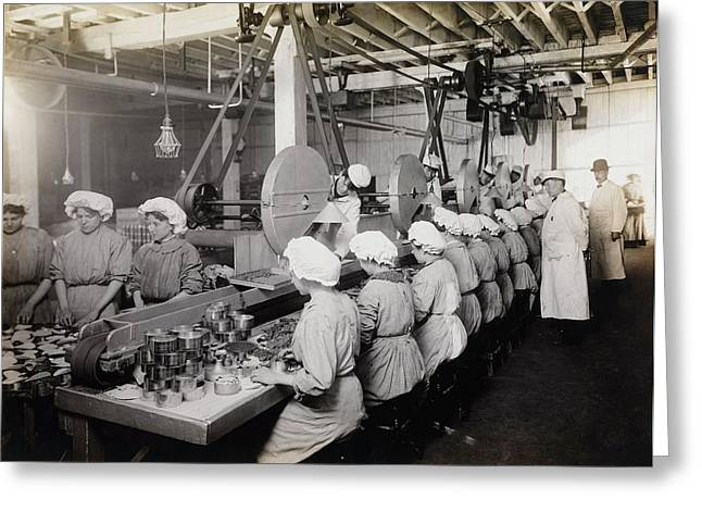 Workers Packing Chipped Beef, 1910 Greeting Card by Stocktrek Images