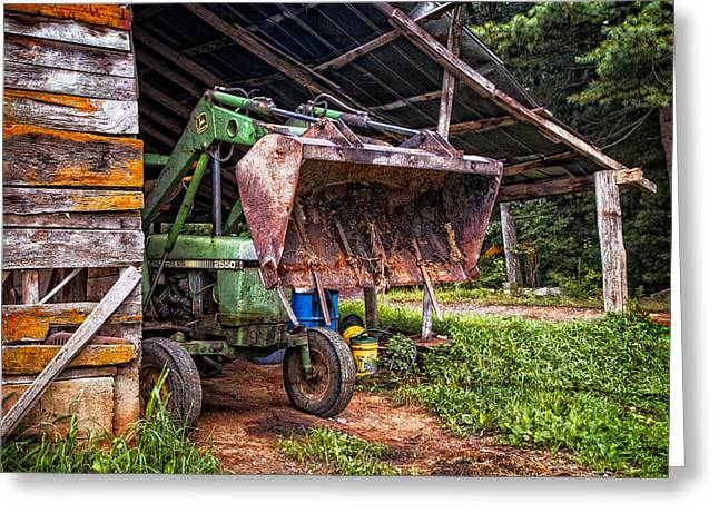 Tennessee Farm Greeting Cards - Workhorse Greeting Card by Debra and Dave Vanderlaan
