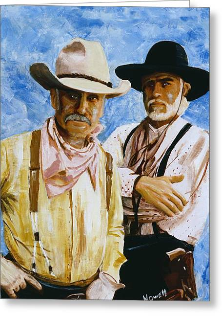 Lonesome Dove Greeting Cards - Working Lonesome Dove Greeting Card by Peter Nowell