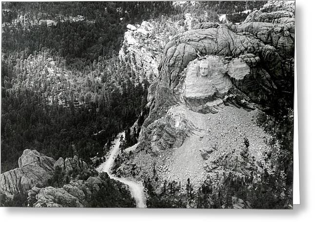 Working On Mount Rushmore Greeting Card by American Philosophical Society