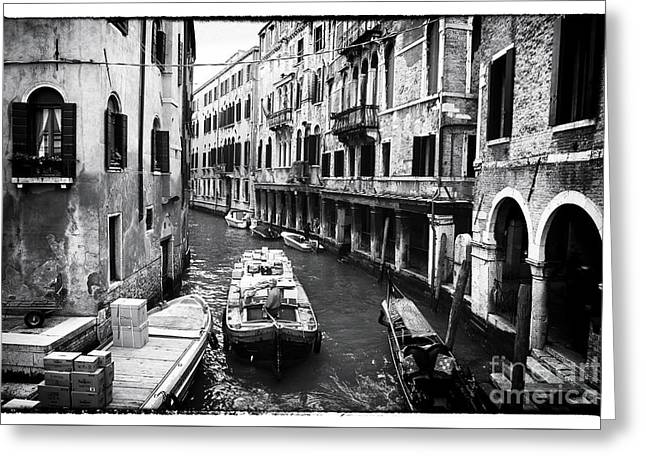 ist Working Photo Photographs Greeting Cards - Working on the Canal Greeting Card by John Rizzuto