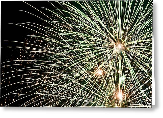4th July Photographs Greeting Cards - Works Of Fire III Greeting Card by Ricky Barnard