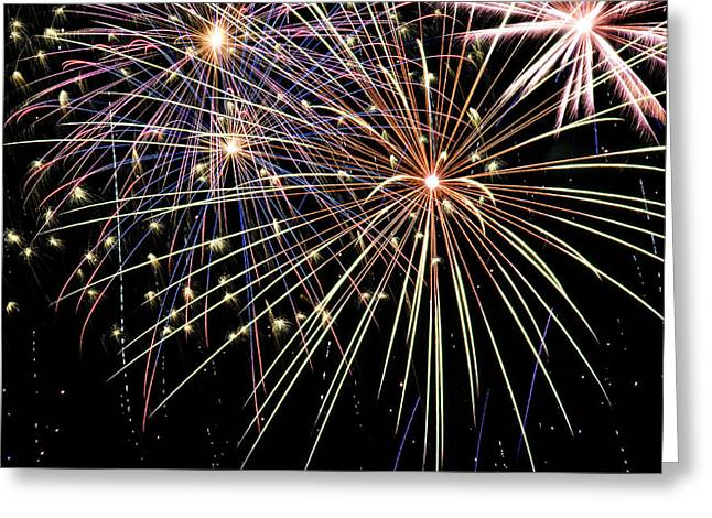 4th July Photographs Greeting Cards - Works Of Fire Greeting Card by Ricky Barnard