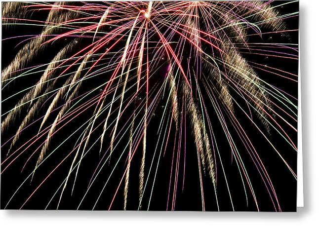 4th July Photographs Greeting Cards - Works Of Fire V Greeting Card by Ricky Barnard