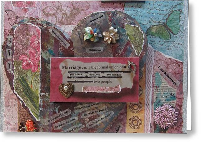 Matrimony Greeting Cards - Works of Heart Matrimony Greeting Card by Anita Burgermeister