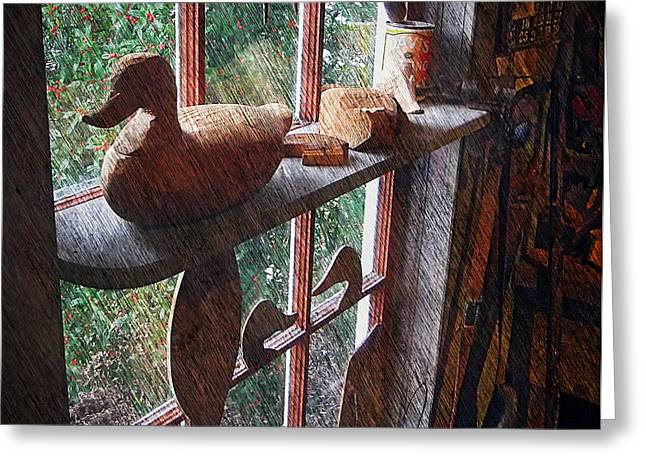 Sfx Greeting Cards - Workshop Window Greeting Card by Brian Wallace