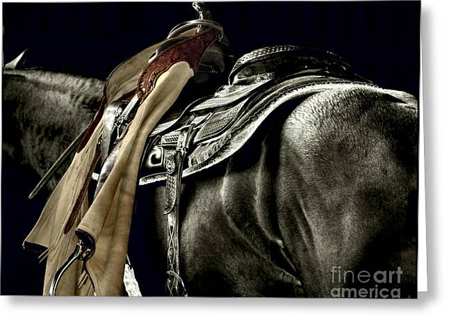 Quarter Horse Digital Art Greeting Cards - Workwear Greeting Card by Judy Wood