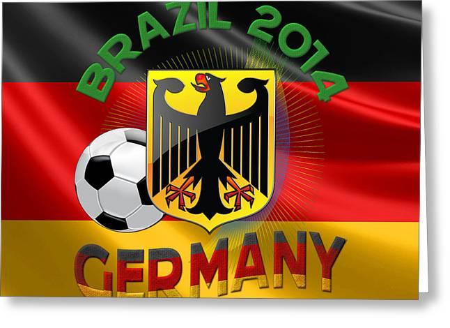 Deutschland Digital Art Greeting Cards - World Cup 2014 - Team Germany Greeting Card by Serge Averbukh