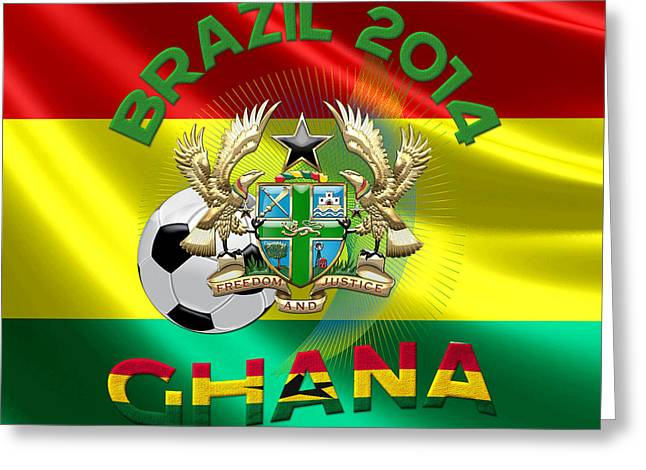 World Cup 2014 - Team Ghana Greeting Card by Serge Averbukh