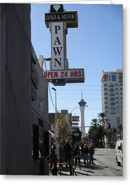 History Channel Digital Greeting Cards - World Famous Gold And Silver Pawn Shop Greeting Card by Kay Novy