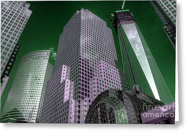 World Trade Centre Greeting Cards - World Financial Centre 4 Greeting Card by Rob Hawkins