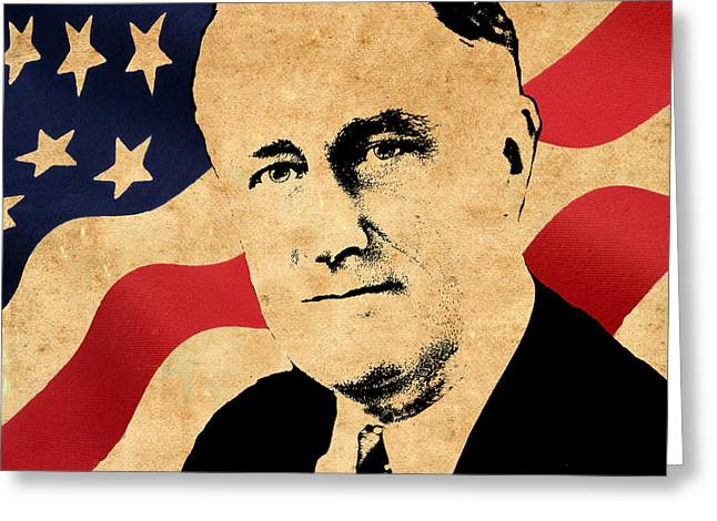 Franklin Roosevelt Greeting Cards - World Leaders 10 Greeting Card by Andrew Fare