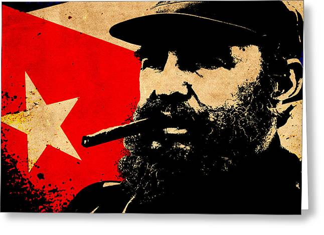 Castro Greeting Cards - World Leaders 5 Greeting Card by Andrew Fare