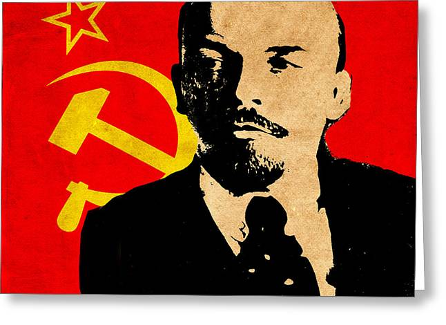 Lenin Greeting Cards - World Leaders 8 Greeting Card by Andrew Fare